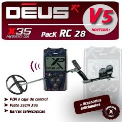 Detector de metales XP DEUS RC PLATO 28 CM