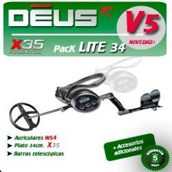 Detector de metales XP DEUS LITE PLATO 34 CM