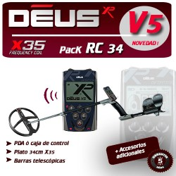 Detector de metales XP DEUS RC PLATO 34 CM