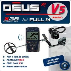 Detector de metales XP DEUS FULL PLATO 34 CM