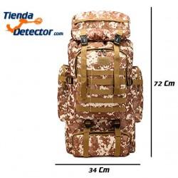 MOCHILA INTRUDER DESERT para detectores de metales