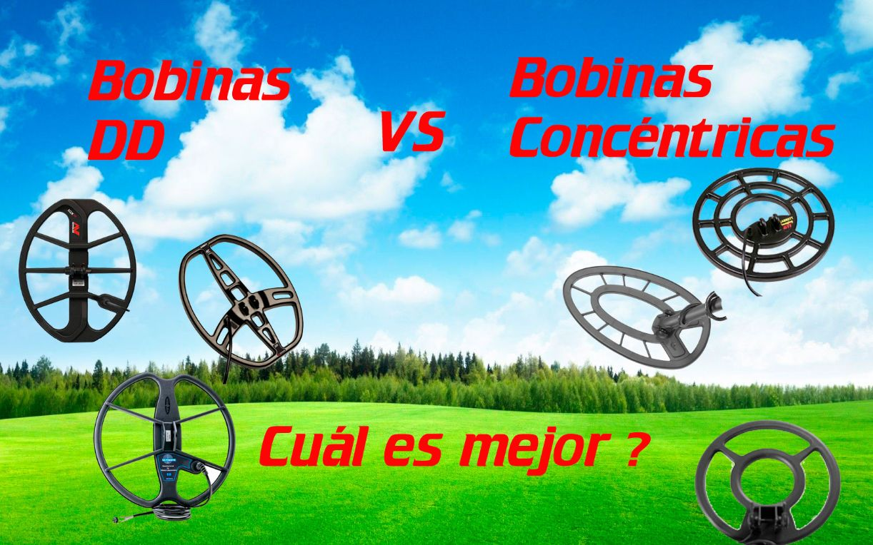 Detector de metales: Bobina concéntrica Vs. Doble D. Cuál es mejor?
