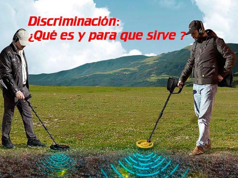 Detectores de metales: Discriminación. ¿Qué es y para qué sirve?