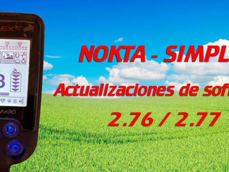 Actualizaciones de Software 2.76 | 2.77 – Nokta Simplex. Aquí las tienes!