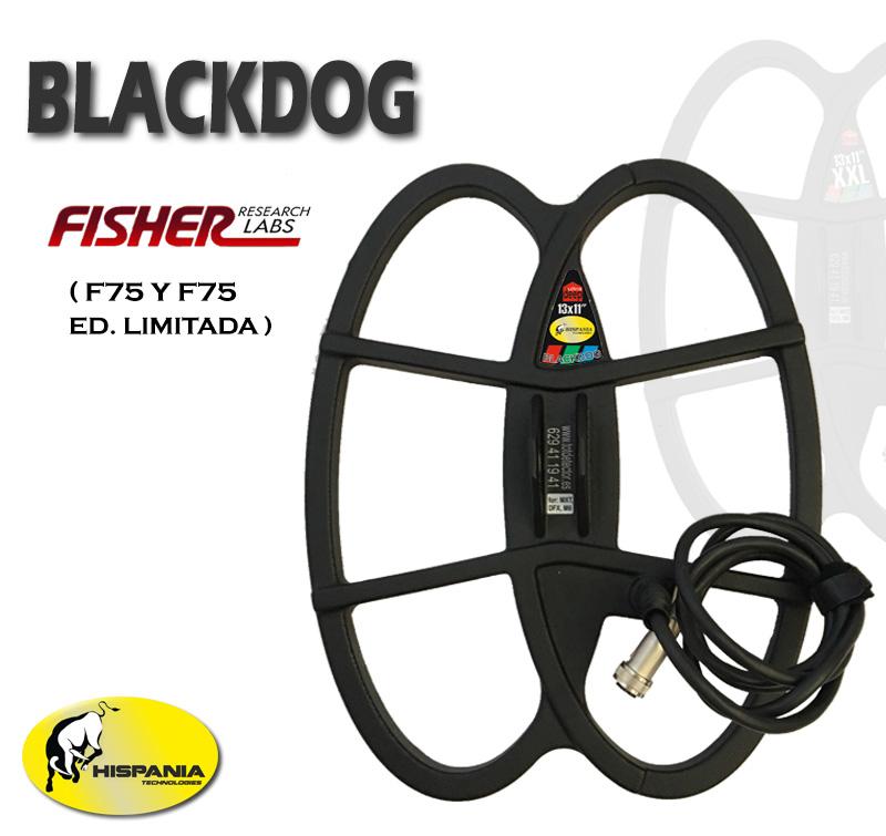 PLATO BLACKDOG para detectores de metales FISHER F70 y F75