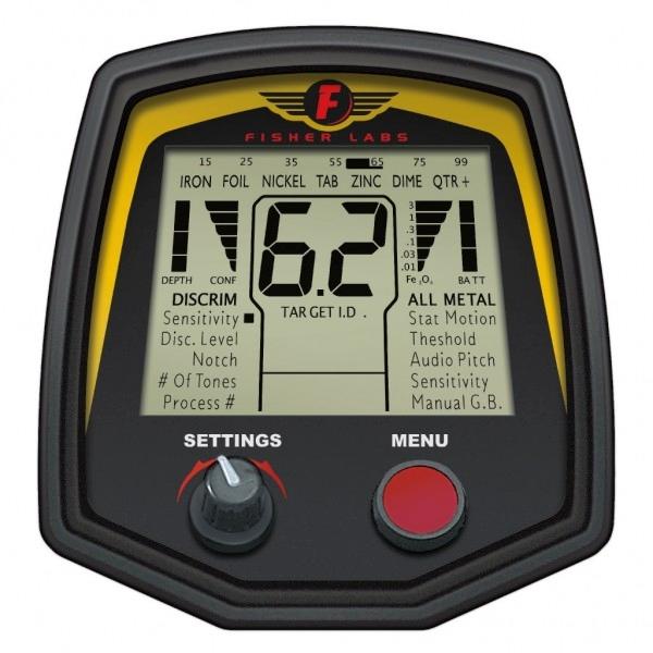 Controles detector Fisher F75 Edición Especial