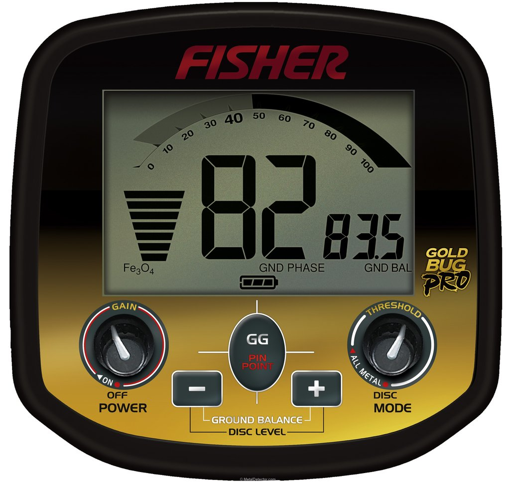 Controles Detector Fisher Gold Bug Pro