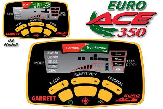 Pantalla detector Garrett Euroace