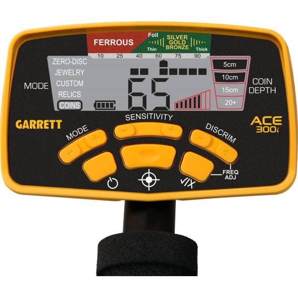Pantalla detector Garrett Ace 300i