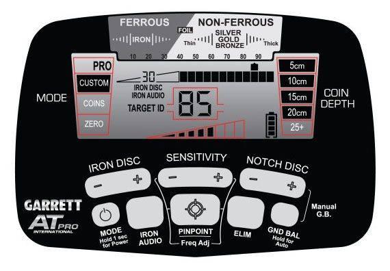 Pantalla detector todo terreno Garrett AT Pro