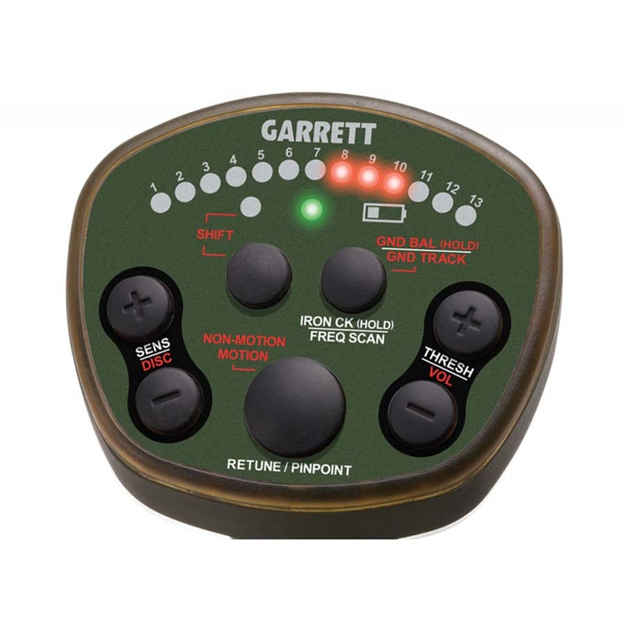 Controles detector oro Garrett ATX