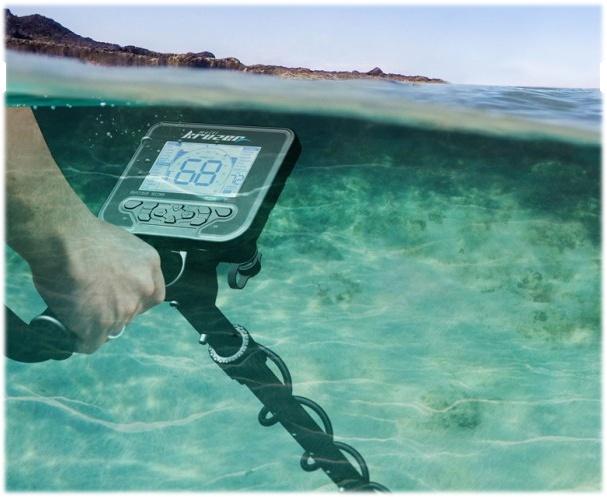 Detector de metales sumergible multifrecuencia para playa