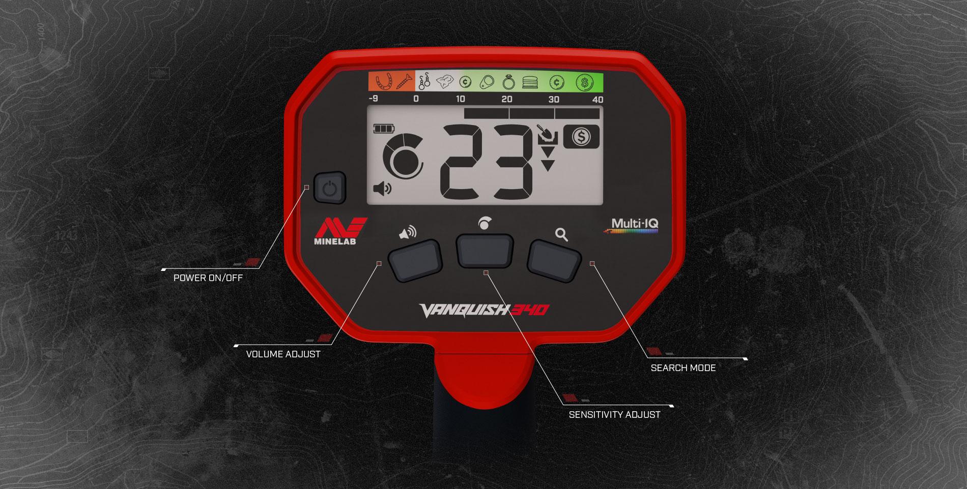 Detector de monedas Minelab Vanquish 340