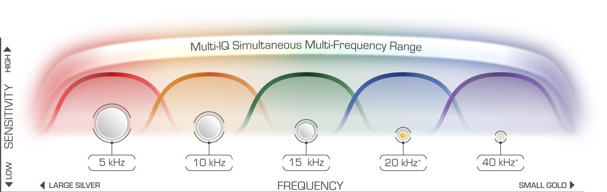 Detector multifrecuencia para playa Minelab Equinox 800
