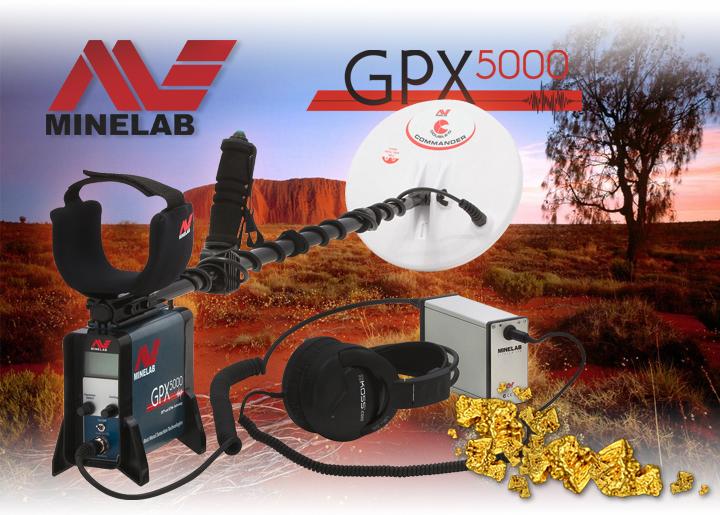 Detector de gran profundidad Minelab GPX 5000