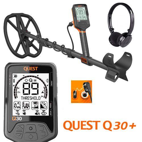 Detector de metales Q30+ con auriculares inalambricos