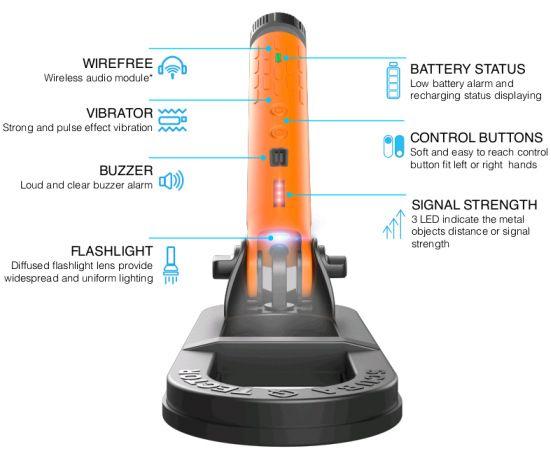 Detector de metales submarino de mano