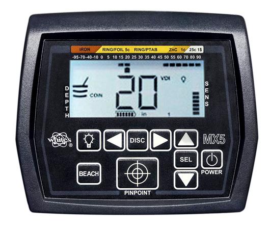 Pantalla detector de playa White´s MX5