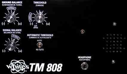 Controles detector de gran profundidad White´s TM 808